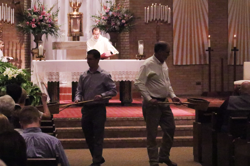 Ushers at Our Lady of Prompt Succor Church in Alexandria, LA